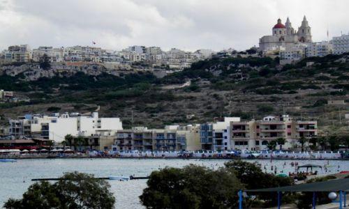 Zdjęcie MALTA / Polnoc Malty / miasteczko Mellieha / Malta-Mellieha
