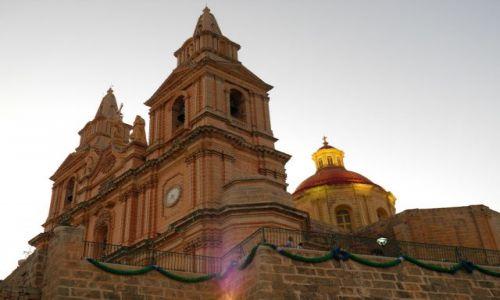 MALTA / Polnoc Malty / miasteczko Mellieha / Malta-Mellieha