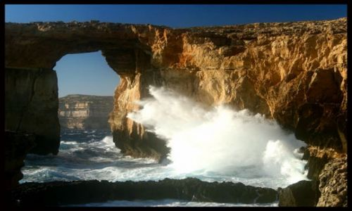 MALTA / brak / Azure Window - wyspa Gozo / Azure Window