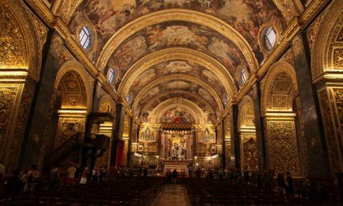 Zdjęcie MALTA / Vallettta / Katedra Św. Jana Chrzciciela / Wnętrze katedry