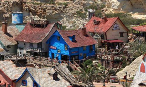 Zdjęcie MALTA / Gozo, Mellieha / Zatoka Anchor / Popeye Village, poczta i piekarnia