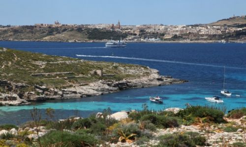 MALTA / Comino / Błękitna laguna / Promem na Gozo