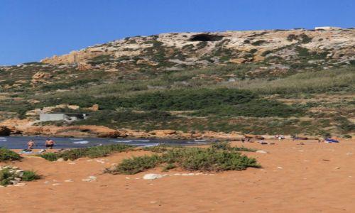 Zdjecie MALTA / Gozo / Ramla Bay / Brązowe piaski plaży