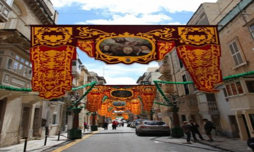MALTA / Valletta  / Floriana / �wi�teczne dekoracje