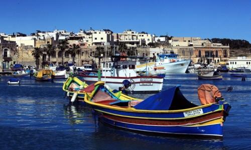 Zdjęcie MALTA /  Marsaxlokk  / Port rybacki  / Moby Dick