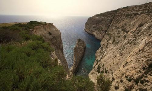 MALTA / Malta południowa / Klify Dingli / Zatoczka