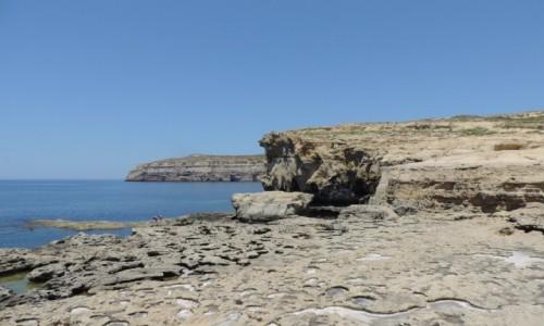 MALTA / Gozo / Dwejra / Tu było Azure Window...