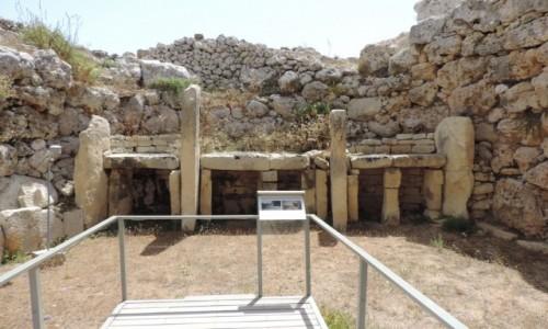 Zdjecie MALTA / Gozo / Ġgantija Temples / Ġgantija Temples - megalityczne świątynie z 3600 r p.n.e.