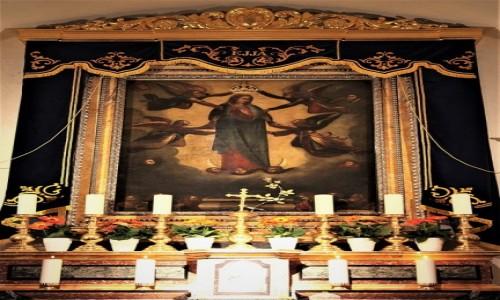 MALTA / Gozo / Bazylika Ta' Pinu / Obraz Najświętszej Maryi Panny z Ta'Pinu
