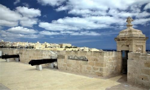 Zdjęcie MALTA / Vittoriosa (Birgu)  / Fort Saint Angelo / Bateria nr 3