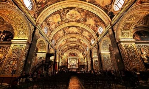 Zdjecie MALTA / Valletta / Konkatedra św. Jana Chrzciciela / Nawa główna