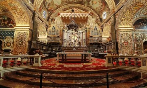 Zdjecie MALTA / Valletta / Konkatedra św. Jana Chrzciciela / Ołtarz główny