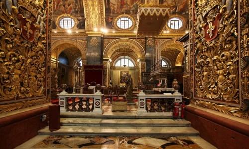 Zdjecie MALTA / Valletta / Konkatedra św. Jana Chrzciciela / Do kaplicy