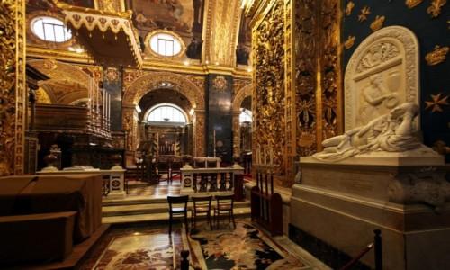 Zdjecie MALTA / Valletta / Konkatedra św. Jana Chrzciciela  / Na bogato
