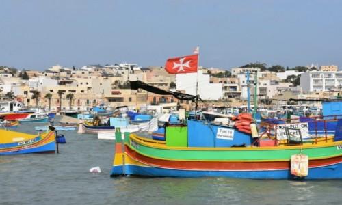 Zdjecie MALTA / wschodnie wybrzeże / Marsaxlokk / W zatoce w Marsaxlokk