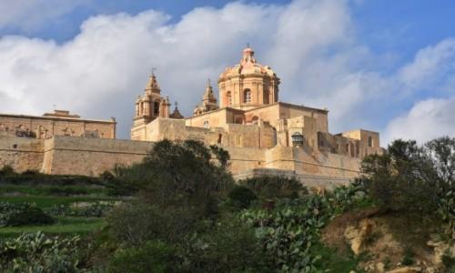Zdjęcie MALTA / środkowa Malta  / szosa wiodąca do Mdiny / Widok na Mdinę