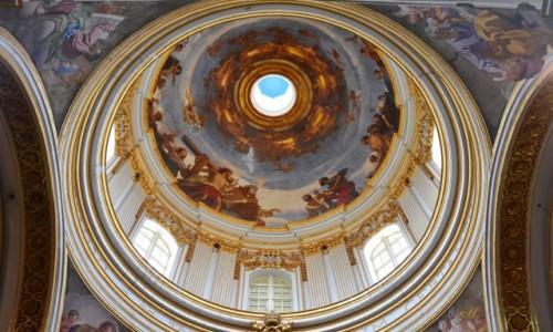 Zdjecie MALTA / środkowa Malta  / Mdina / Wnętrze kopuły katedry św. Pawła w Mdinie