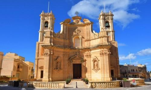 Zdjęcie MALTA / wyspa Gozo / Gharb / Kościół parafialny Nawiedzenia NMP w Gharb