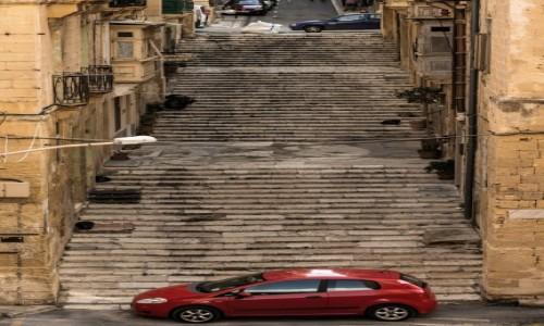 MALTA / Malta / La Valletta / Schody, schody, schody ...