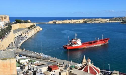 Zdjęcie MALTA / wschodnie wybrzeże / Valletta / Widok na Grand Harbour
