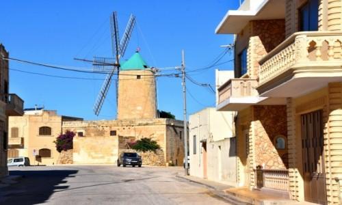 MALTA / wyspa Gozo / Xaghra / Ta' Kola Windmill