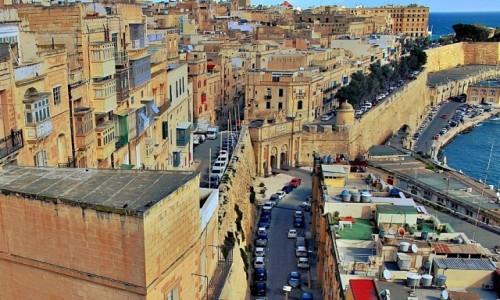 Zdjęcie MALTA / - / Valletta / Z górnych ogrodów Barrakka