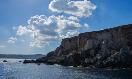 Zdjęcie MALTA / Malta / Klify L-Aħrax / Szeroko patrzymy, perspektywicznie ;-)