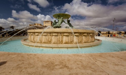 Zdjęcie MALTA / . / Valletta / Fontanna Trytona