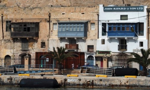 Zdjecie MALTA / Malta / Grand Harbour / Valletta od strony morza