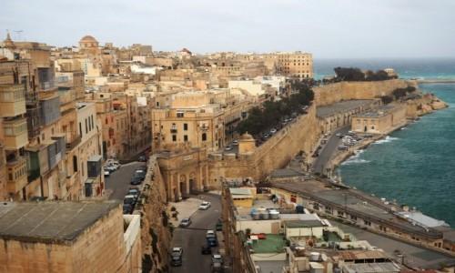 Zdjecie MALTA / Malta / Valletta / Widok z górnych ogrodów Barrakka