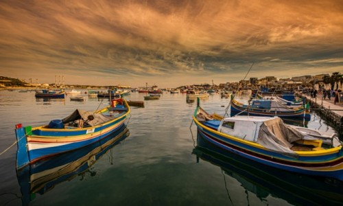 Zdjecie MALTA / . / Marsaxlokk / port