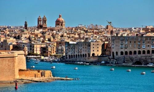 MALTA / Malta / L'Isla / Widok z  Valetta