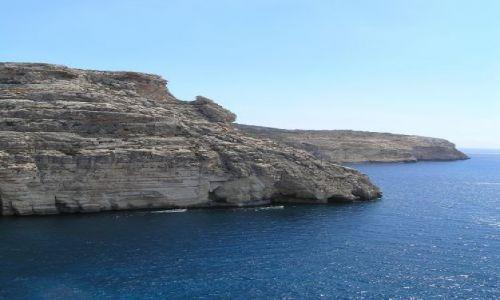 Zdjecie MALTA / malta / blue grotto / białe skały