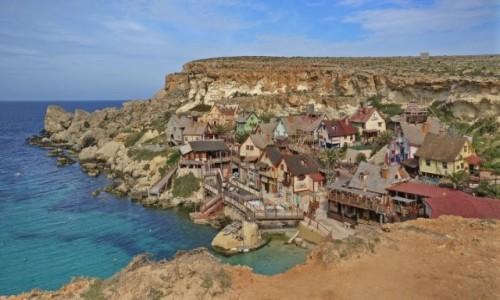 MALTA / Mellieħa / Popeye Village / filmowo...