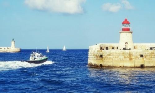 MALTA / ... / Valletta / Wejscie do portu