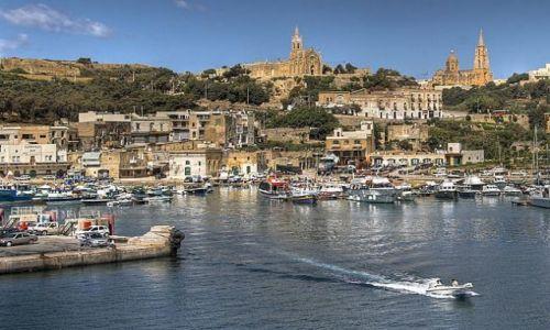 Zdjecie MALTA / wyspa Gozo / Mġarr / Port w Mġa