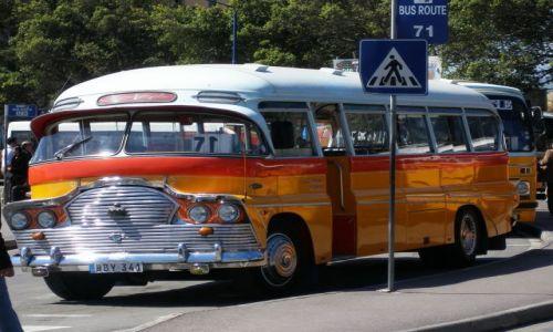 Zdj�cie MALTA / Valetta / Valetta / autobus Malta�ski