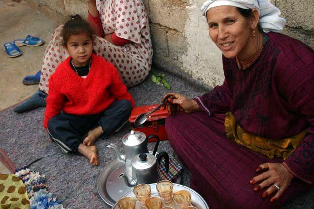 Zdjęcia: gdzieś koło Imintanute, u Berberów, MAROKO