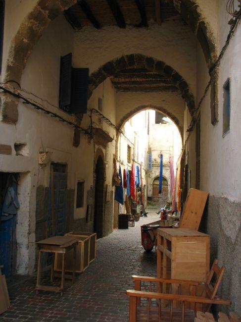 Zdjęcia: Essauira, uliczka rzemieślników, MAROKO