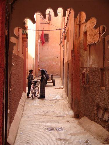 Zdjęcia: Marrakech medyna , ulica do Palais el Badi , MAROKO