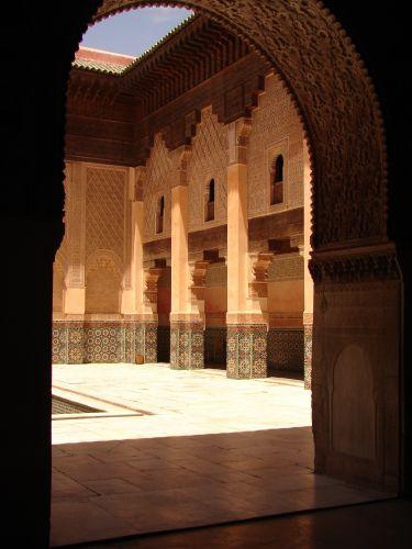 Zdjęcia: Marrakech medyna, Medresa ben Jusufa, MAROKO