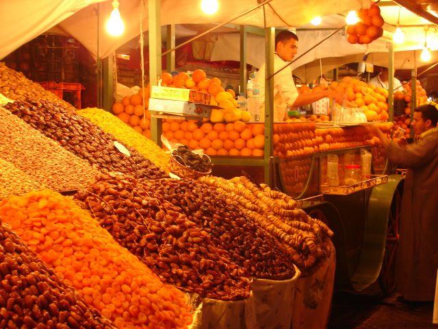 Zdjęcia: Marrakech medyna, Jemaa el Fna  w nocy , MAROKO