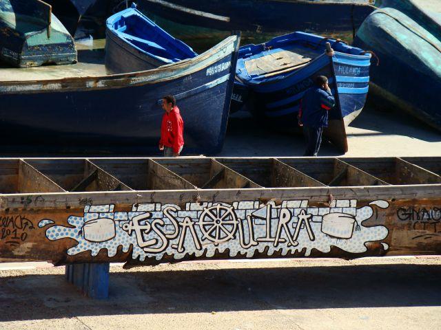 Zdjęcia: Essaouira, Zachodnie wybrzeże Maroka, Essaouira w graffitti, MAROKO