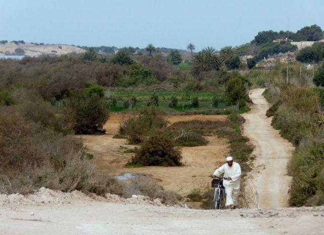 Zdjęcia: mała Sahara, droga, MAROKO