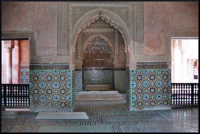 Zdj�cia: Marrakech, grobowce Sadyt�w, MAROKO