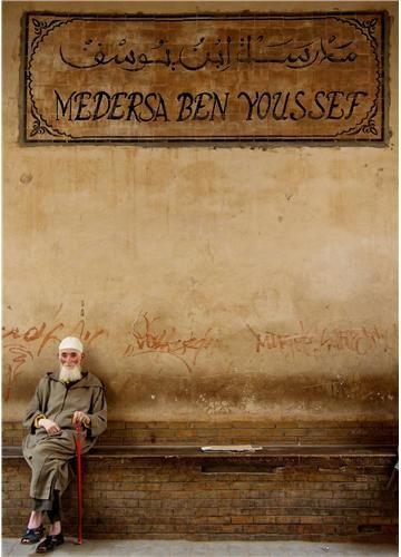 Zdjęcia: Medresa Ben Joussef, Zamyslenie, MAROKO