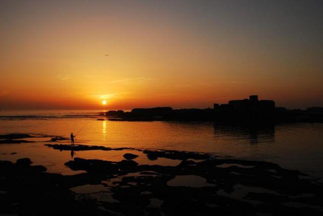 Zdjęcia: Essaouira, Wybrzeże Atlantyku, Zachód słońca w Essaouira, MAROKO