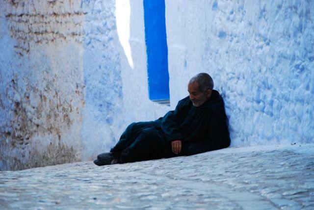 Zdjęcia: Chefchaouen, Góry Rif, Stary człowiek, MAROKO