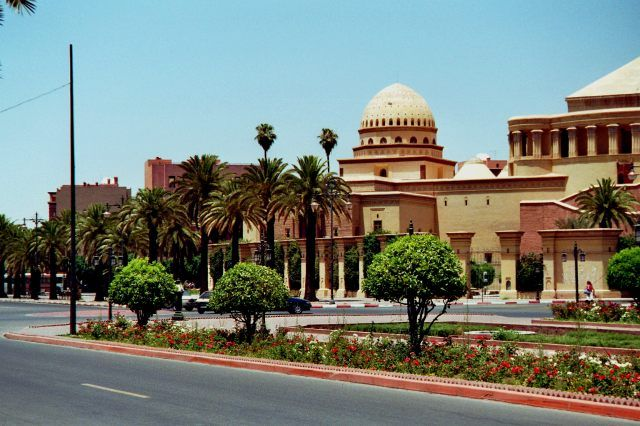 Zdjęcia: Marrakech, budynek opery, MAROKO
