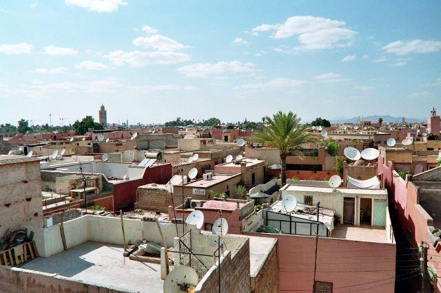 Zdjęcia: Marrakech, widok na miasto z el-Badi, MAROKO